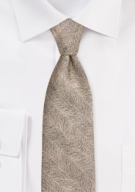 Bronze Gold Textured Formal Tie