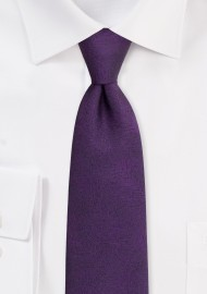 Lapis Purple Mens Tie with Wood Grain Texture