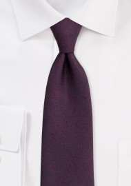 Wood Grain Textured Tie in Wine
