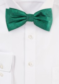 Wood Grain Bowtie in Juniper Green