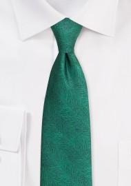 Wood Grain Textured Tie in Juniper Green