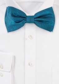 Wood Grain Textured Bow Tie in Gem Green