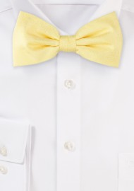 Wood Grain Weave Bowtie in Spring Yellow
