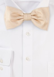 Wood Grain Weave Bowtie in Golden Wheat