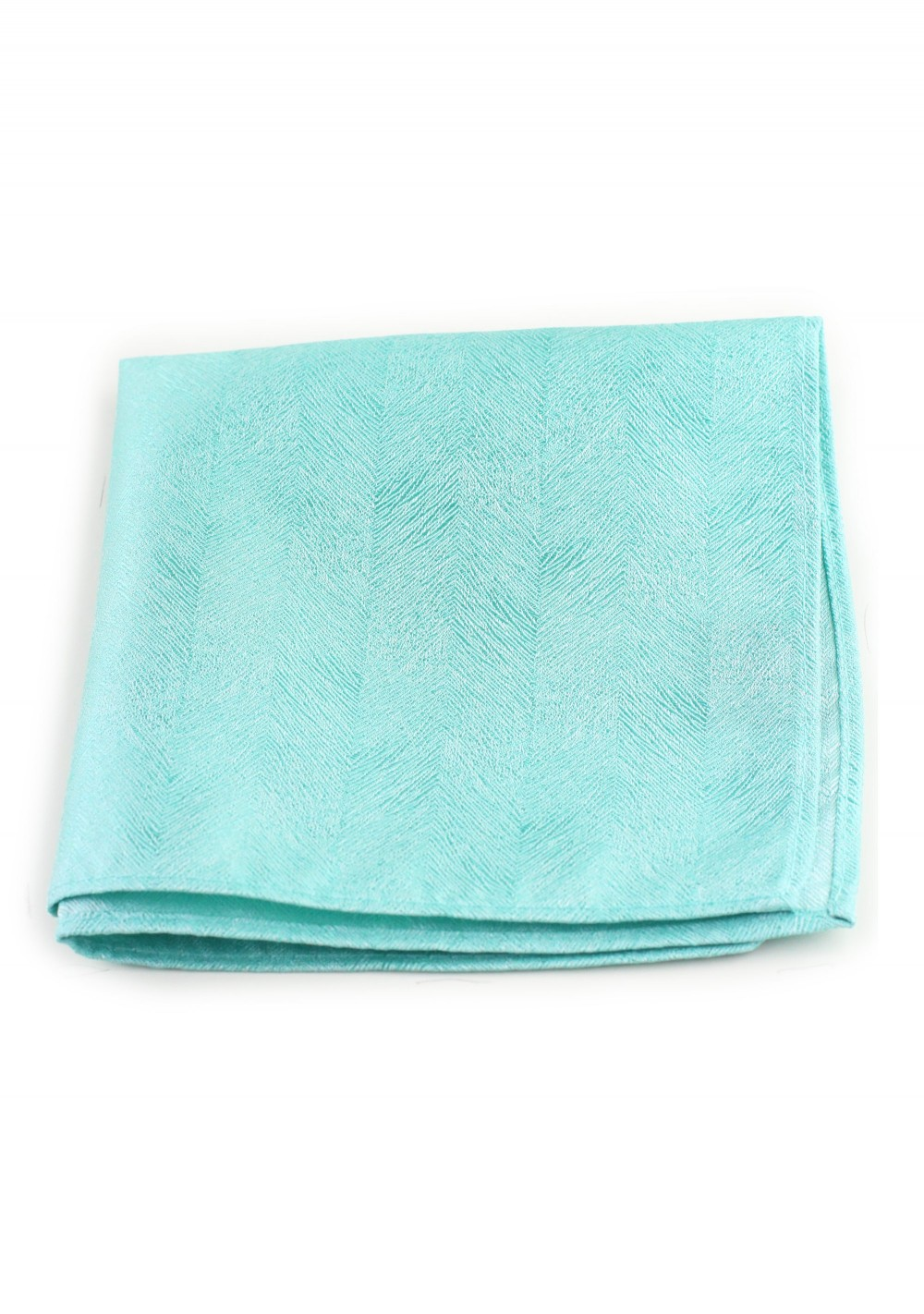 Wood Grain Textured Pocket Square Hanky in Spa