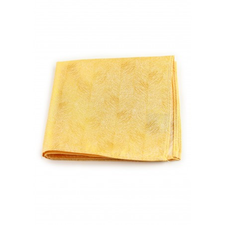 Wood Grain Textured Pocket Square Hanky in Sunflower