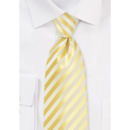 Extra Long Tie in Daffodil Yellow
