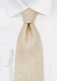 Cream Paisley Tie for Kids