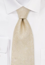 Extra Long Ties - XL paisley design necktie