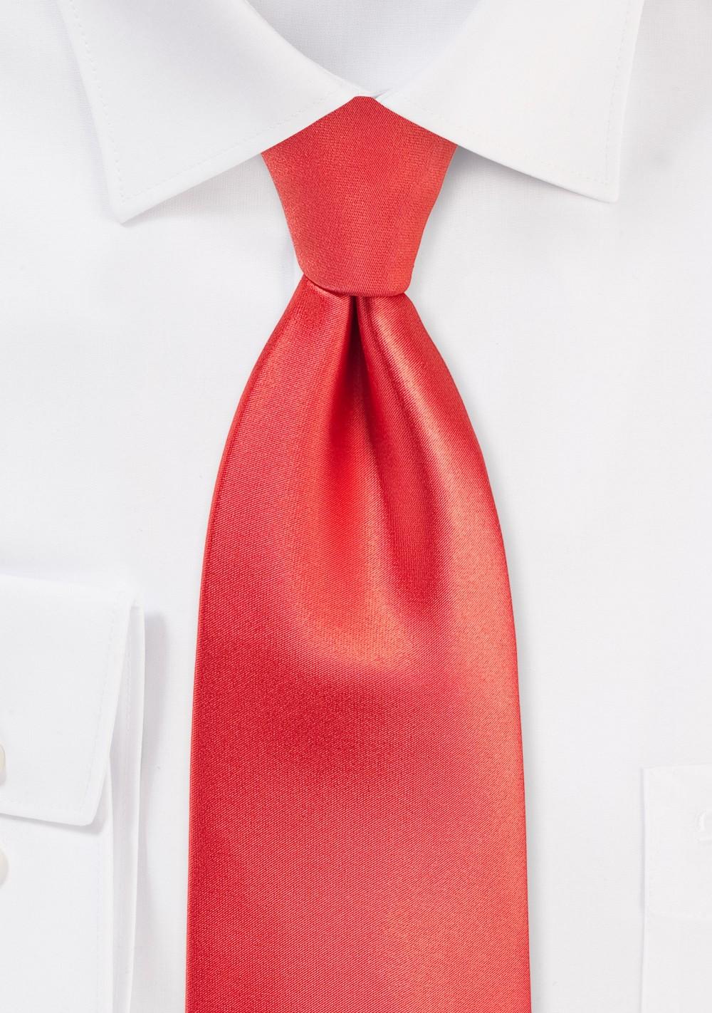 Neon Coral Colored Kids Tie