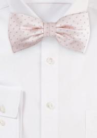 Petal Pink Polka Dot Bow Tie