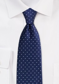 Darkest Navy Blue Polka Dot...
