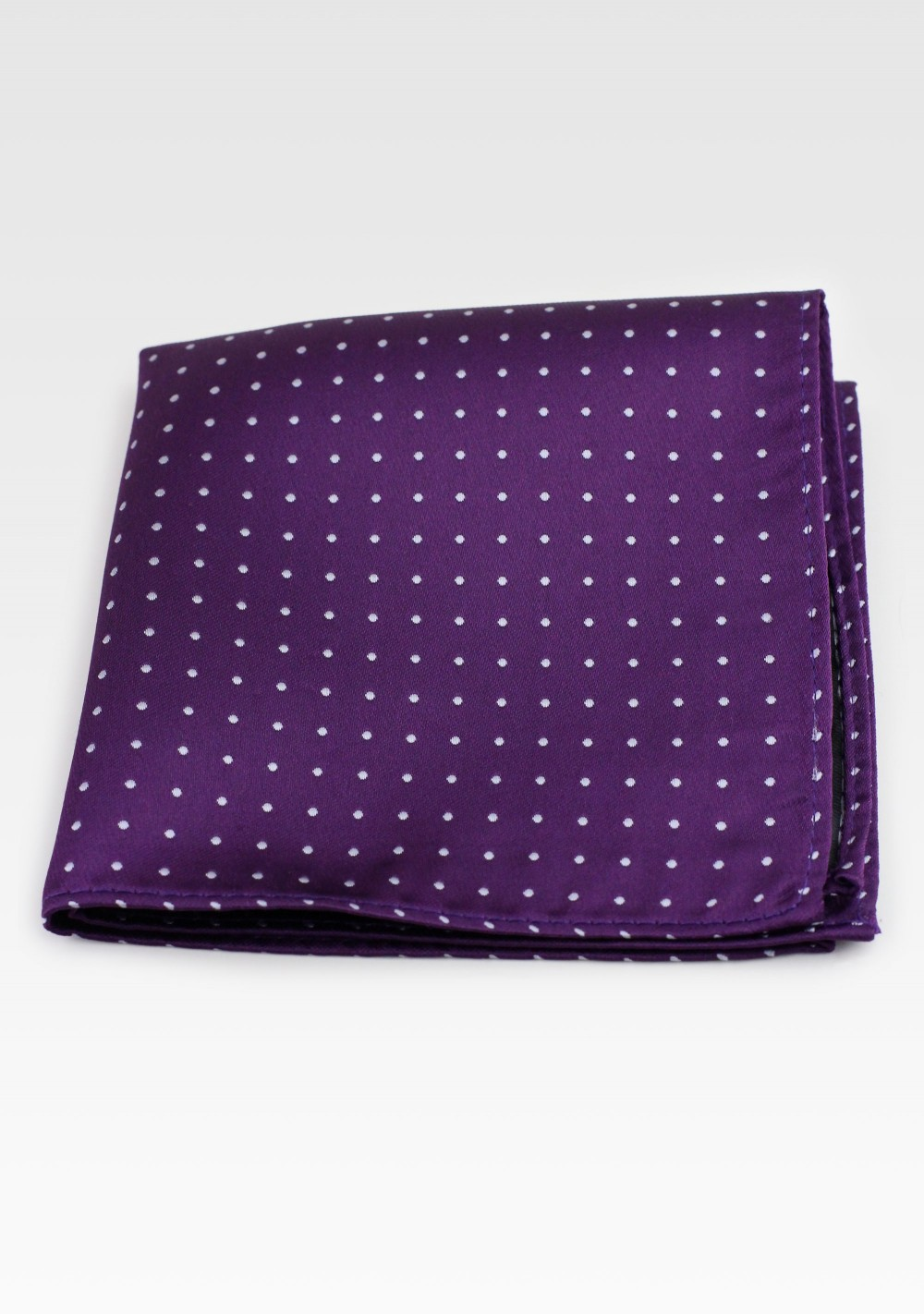 Grape Purple Polka Dot Pocket Square