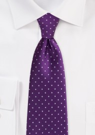 Grape and Silver Polka Dot...