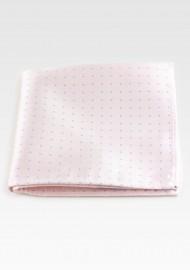 Blush Pink Hanky with Silver Polka Dots