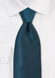 Dark Teal Blue Kids Necktie