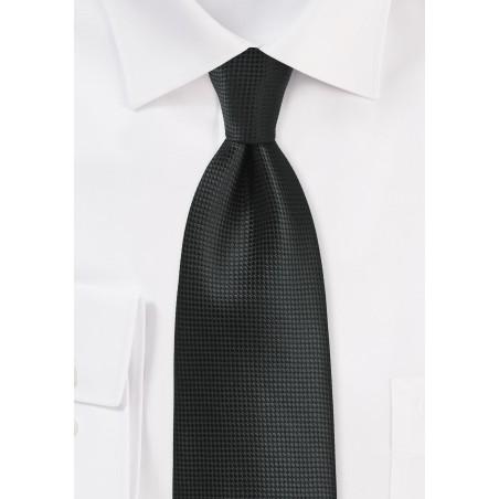 Jet Black XL Size Mens Tie