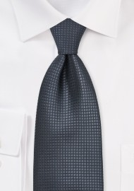 Dark Gray Silk Tie Made for Big & Tall Men