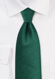 Pine Green Herringbone Tie