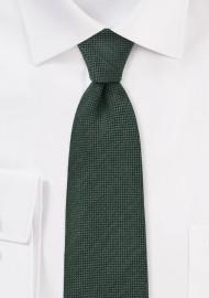 Olive Green Skinny Tie