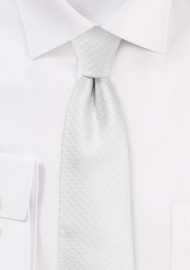 Skinny Pin Dot Tie in Bright White