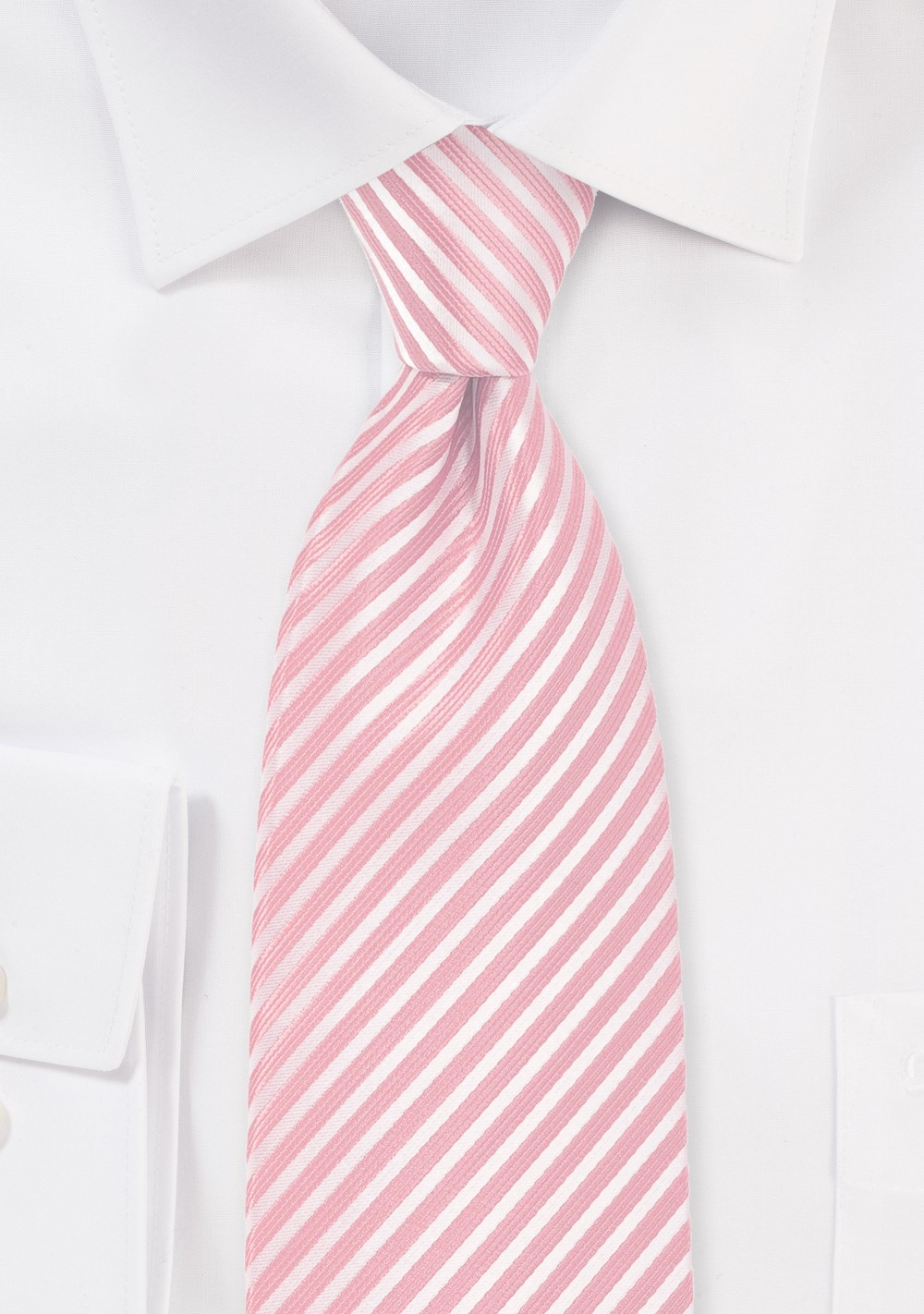 Petal Pink Kids Necktie with Stripes