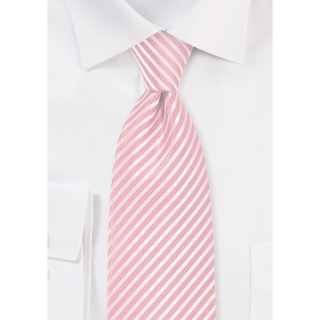 Petal Pink Striped Necktie