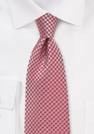 Dark Coral Red Necktie