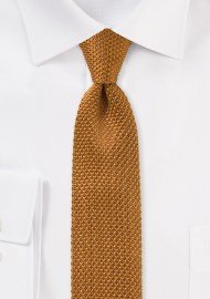 Camel Colored Knitted Silk Tie