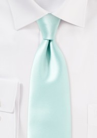 Pale Mint Green Necktie