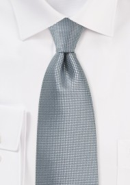 Extra Length Tie in Metallic Silver