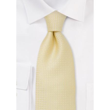 Men's neck ties -  Light lemon-yellow tie
