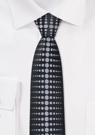 Modern Skinny Tie in Black and Grey
