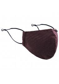 Pin Stripe Face Mask in Merlot Red