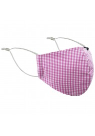 Pink Gingham Check Mask