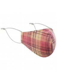 Madras Plaid Mask in Orange and Peach
