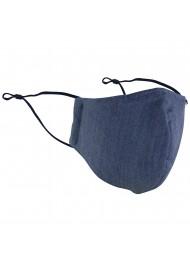Dark blue cotton filter Face Mask