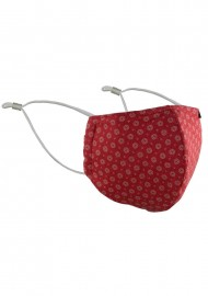 Vintage Design Face Mask in Cherry Red