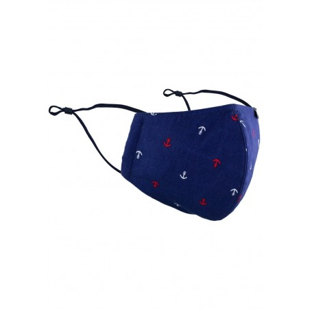 Nautical Face Mask in Navy Blue