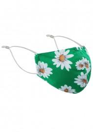 Spring Green Daisy Face Mask