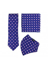 USA flag mask and necktie set