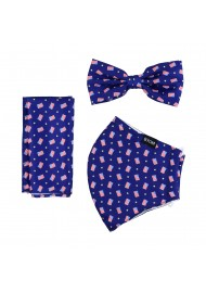 face mask and bow tie with USA flag