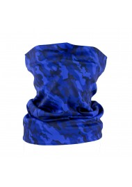 blue camo print neck gaiter mask