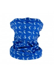 shark neck gaiter in deep ocean blue