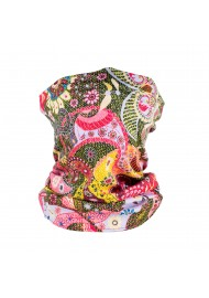 colorful pik and floral gaiter mask