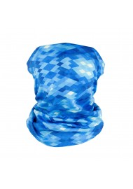 aqua blue graphic argyle print neck gaiter mask