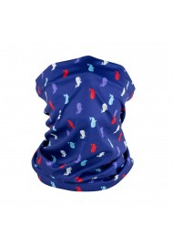 whale print design neck gaiter mask