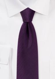 Slim Cut Tie in Plum