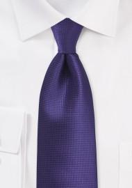 Textured Tie in Violet Grape