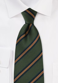 Regimental Tie in Hunter Green